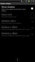 Minimalist Text - Shadow settings