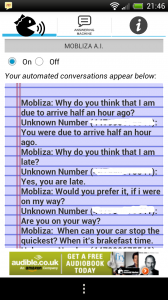 Mobliza Text Answering Machine - AI conversation