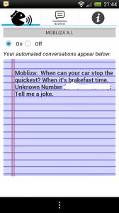 Mobliza Text Answering Machine - Joke telling