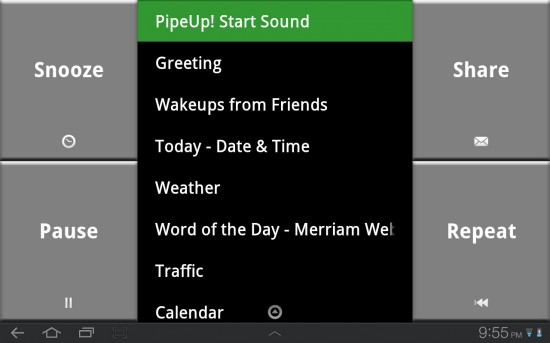 PipeUp! Voice Alarm is a great way to start the day