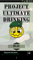Project Ultimate Drinking Game - Main screen