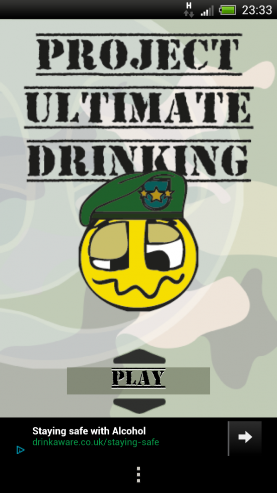 Project Ultimate Drinking Game, an app which provides a range of fun drinking games