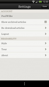 Readability - Settings