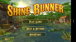 Shine Runner - Main menu