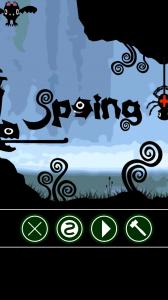 Spoing - Menu screen