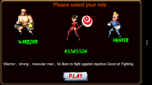 Zombie Wars - Choose character, this doesn't always work