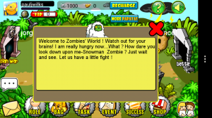 Zombie Wars - Intro dialogue, not really that helpful