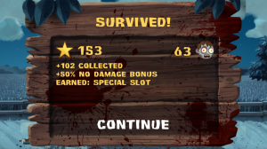 ZombieSmash - End of level