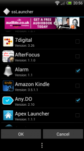 ssLauncher - Add shortcuts to homepage