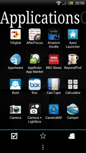 ssLauncher - Applications page
