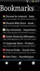 ssLauncher - Bookmarks page