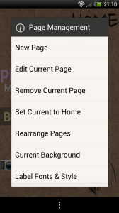 ssLauncher - Page management