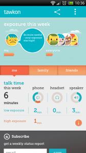 tawkon - Dashboard page