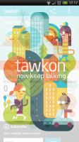 tawkon - Splash page