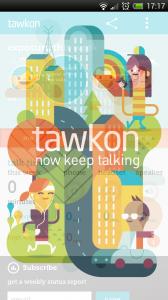 tawkon - Splash page