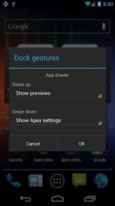 Apex Launcher Pro Dock Gestures