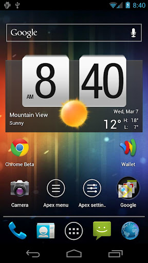 Apex Launcher – ultimate home screen launcher for Android ICS phones & tablets