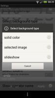 Atomic Clock Wallpaper - Choose solid colour (grey), select image or slideshow