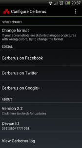 Cerberus - Configure