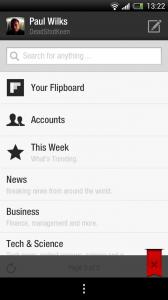 Flipboard beta - Account details