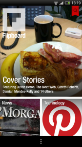 Flipboard beta - Front page