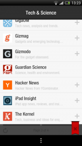 Flipboard beta - Subscribe to various sources