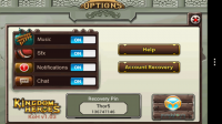 Kingdom of Heroes - Options