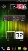 Make Your Clock Widget - 4 different widget sizes and templates