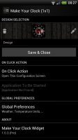 Make Your Clock Widget - Add extra global settings here, and click actions