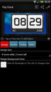Make Your Clock Widget - Basic flip clock template