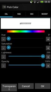 Make Your Clock Widget - Colour choice