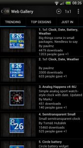 Make Your Clock Widget - Web gallery headings