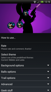 Metaballs HD Live Wallpaper - Nibbler and Leela theme