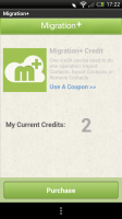 Migration+ - Credits bought