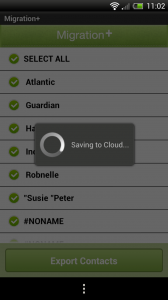 Migration+ - Saving to cloud