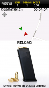 MobileWar - Drag downwards to reload