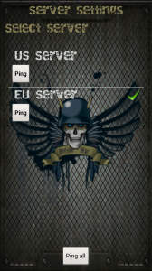 MobileWar - Select server