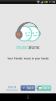MusicBunk - Front page