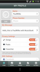 MusicBunk - My Profile