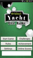 Original Yacht Dice Game - Main menu