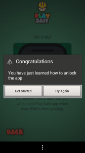 Play Safe - Unlock pressing and holding the icon