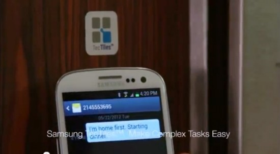Samsung TecTiles: expanding NFC touch-to-share technology to the masses