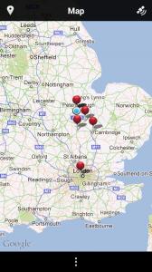 Scalado Album - Map view