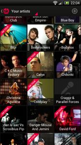 Songkick Concerts- Artists list
