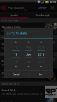 Songkick Concerts- Search events by date