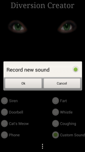 Spy Tool Kit - Record a new sound in diversion creator