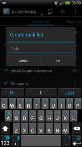 Tasks - Create task list