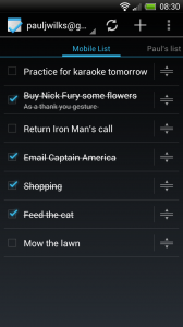 Tasks - Mobile list