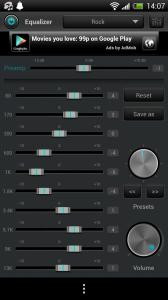 jetAudio - Rock preset
