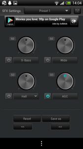 jetAudio - SFX settings